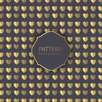 Gouden harten patroon achtergrond