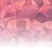 Abstract laag polyontwerp met halftone punten