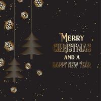 Kerstboom en sneeuwvlokken achtergrond vector