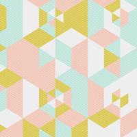 Ontwerp in Scandinavische stijl met laag polygehalte vector