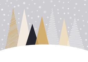 Kerst achtergrond in Scandinavische stijl vector