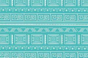 etnisch handgemaakt, groen stammen antiek cultuur boho decoratiepatroon vector