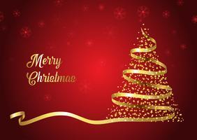 Kerstboom lint achtergrond vector