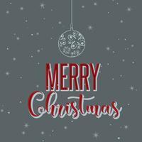 Retro gestileerde Kerstmis achtergrond vector