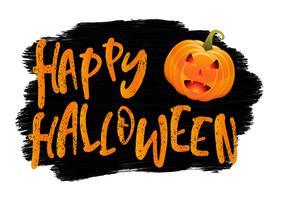 Grunge Halloween-achtergrond met pompoen vector