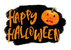 Grunge Halloween-achtergrond met pompoen