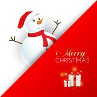 Kerst sneeuwpop achtergrond vector