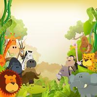 Wildlife Afrikaanse dieren achtergrond
