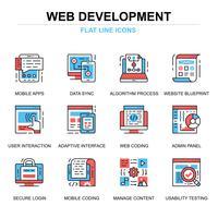 Web ontwikkeling Icon Set vector