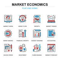 Wereldwijde markteconomie Icon Set