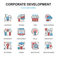 Bedrijfsontwikkeling Icon Set