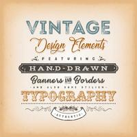 Vintage etiketbord vector