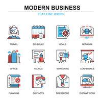 Moderne zakelijke pictogramserie