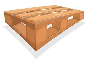 Houten Palett voor magazijn vector