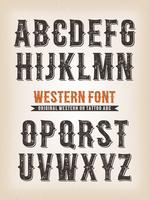 Vintage Western en Circus ABC lettertype vector