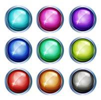 Afgeronde licht pictogrammen en knoppen vector