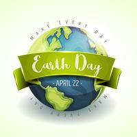 gelukkige dag van de aarde banner vector