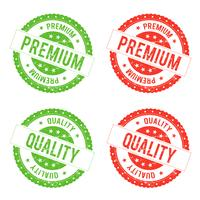 Kwaliteit Premium zegel stempel vector