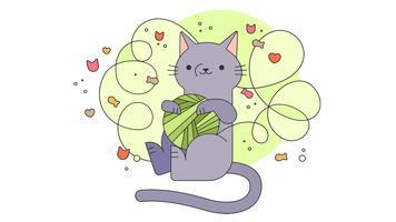 Rommelige kat vector