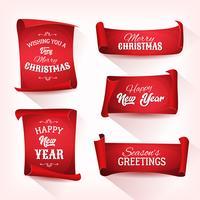 Christmas Perkament Scroll Set vector