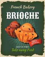 Retro Brioche-poster