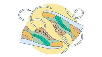 Nieuwe Sneakers Vector