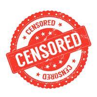 Certificaat censuurzegel vector
