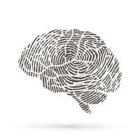 modern hersenontwerp met lijnvingerafdruk vector
