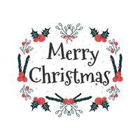 vrolijke kerst vector
