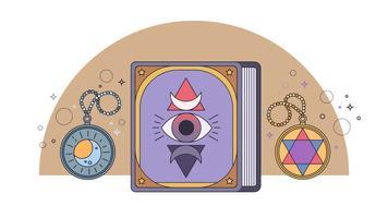 Alchemie Boek Vector