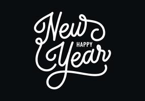 Nieuwjaars belettering vector
