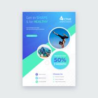 Sport Gezondheid Lifestyle Flyer Vector Template