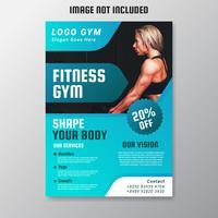 Gym en Fitness Flyer Vector