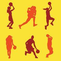 Vrouwelijke basketbal speler Vector Pack