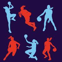 Vector Vector pack van de vrouwelijke basketballaag
