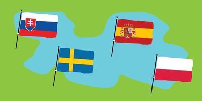 euro 2020 groep e vector