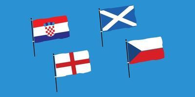 euro 2020 groep d vector