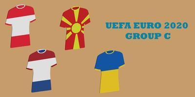 UEFA euro 2020 toernooi groep c group vector