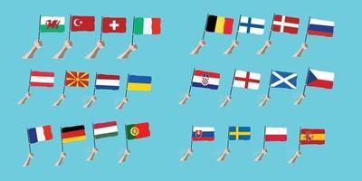 Euro 2020 toernooi vector