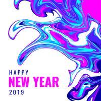 Gelukkig Nieuwjaar Instagram Post marmeren achtergrond vector