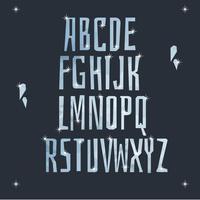 Icy alfabet vector