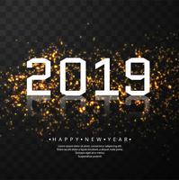 Mooie gelukkige nieuwe jaar 2019 tekst festival achtergrond vector