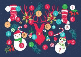 Advent kalender afdrukbare vector