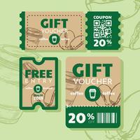 coupon vector ontwerp