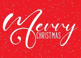 Kerstmisachtergrond met decoratief tekst en sneeuweffect vector