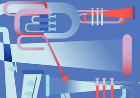 Retro Saxaphone Jazz muziek Poster vectorillustratie