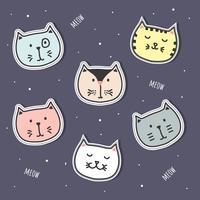 katten stickers vector