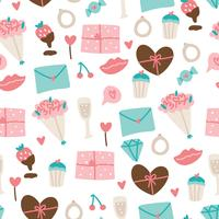 Leuke Valentijnsdag patroon vector