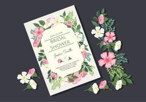 Uitnodiging voor bruids douche vector