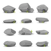 Rocks and Boulders Set vector